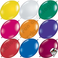 12 Inch Quick Link Jewel Single Color Balloons Qualatex