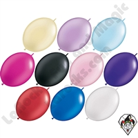12 Inch Quick Link Pearl Single Color Balloons Qualatex 50ct