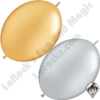 6 Inch Quick Link Metallic Single Colors Qualatex 50ct