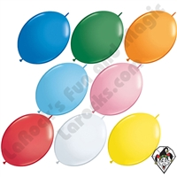 6 Inch Quick Link Standard Single Color Balloons Qualatex 50ct