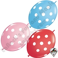 Qualatex 12 In Quick Link Big Polka Dots Standard Single Colors 50ct
