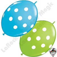 Qualatex 12 Inch Quick Link Big Polka Dots Fashion Single Colors 50ct
