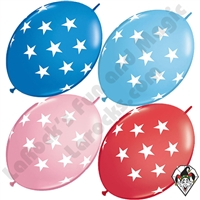 Qualatex 12 Inch Quick Link Big Stars Single Colors 50ct