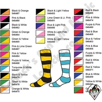 Clown Socks Deluxe Striped Two Color