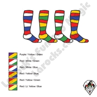 Clown Socks Deluxe Striped Three Color