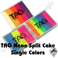 TAG Neon Split Cake 50g Face & Body Art Paints