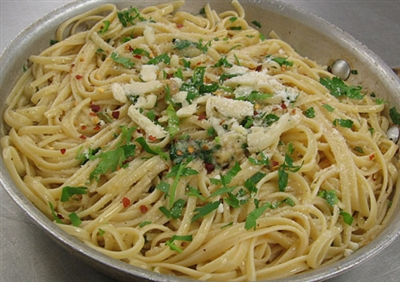 Recipe - Linguine with Extra-Virgin Olive Oil and Garlic