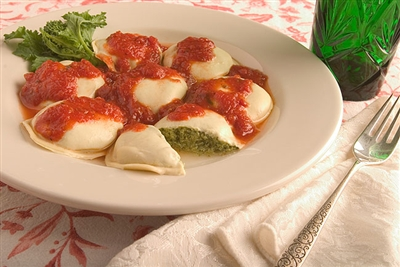Large Round Broccoli Rabe Ravioli