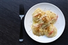 Large Round Crab with White Dough Ravioli