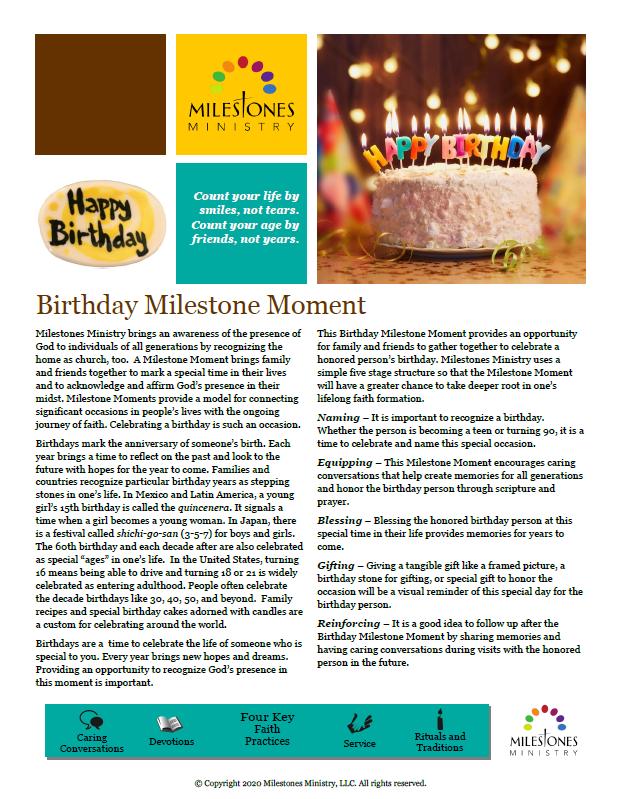 Birthday Milestone Moment Download