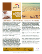 End of Life Conversations Milestone Moment