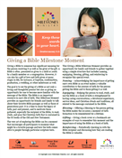 Giving a Bible Milestone Moment Download