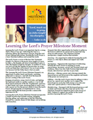 Learning the Lord's Prayer Milestone Moment Download