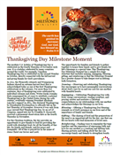 Thanksgiving Day Milestone Moment Download