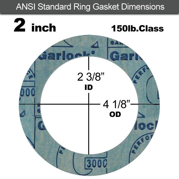 Garlock 3000 NBR Ring Gasket - 150 Lb. - 1/8\