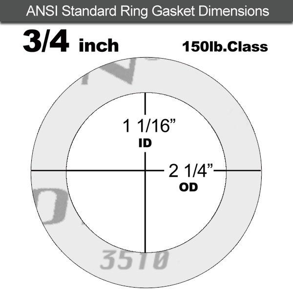 Garlock Gylon® 3510 Ring Gasket - 150 Lb. - 1/8\