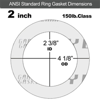 "Garlock Gylon® 3510 Ring Gasket - 150 Lb. - 1/8"" Thick - 2"" Pipe"