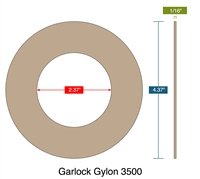 "Garlock Gylon® 3510 Ring Gasket - 300 Lb. - 1/16"" Thick - 2"" Pipe"