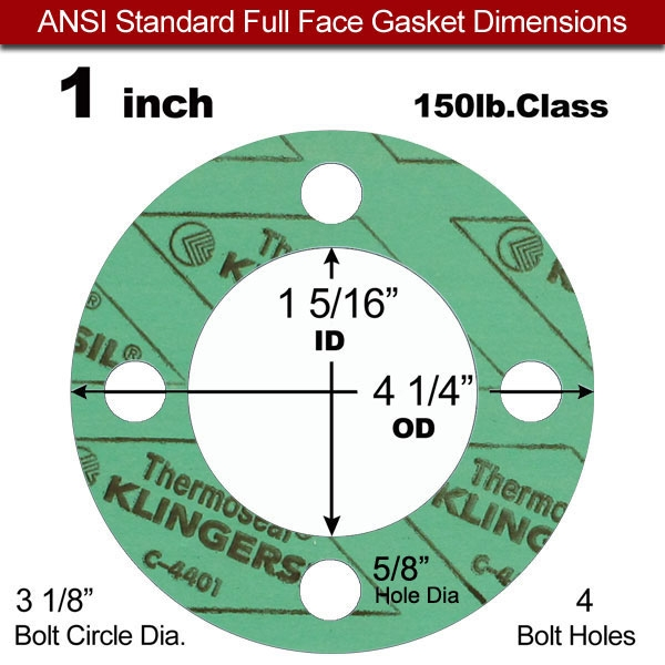 Pressure Class 150# Sterling Seal CFF7540.1200.125.150X20 7540 Vegetable Fiber Full Face Gasket 12 Pipe Size 12.75 ID Pack of 20 1//8 Thick