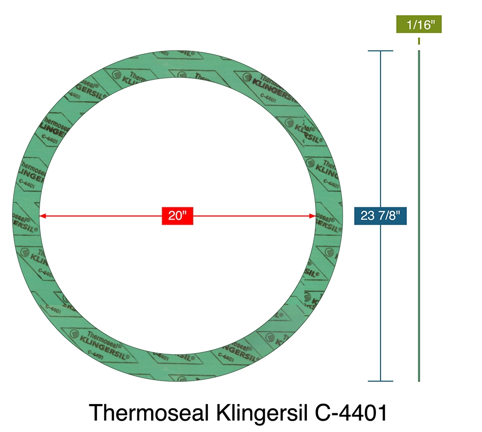 THERMOSEAL C-4401 Gasket Sheet,Synthetic Fibers