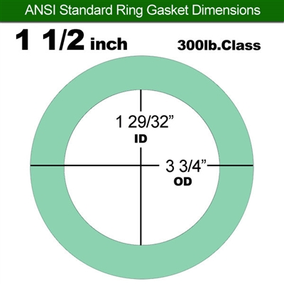 "Equalseal EQ750G Ring Gasket - 300 Lb. Class - 1/16"" - 1 1/2"" Pipe Size"