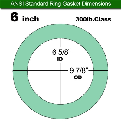 "Equalseal EQ750G Ring Gasket - 300 Lb. Class - 1/16"" - 6"" Pipe Size"