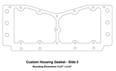 "Equalseal EQ 535 Custom Housing Gasket - 1/16"" - Side 2"