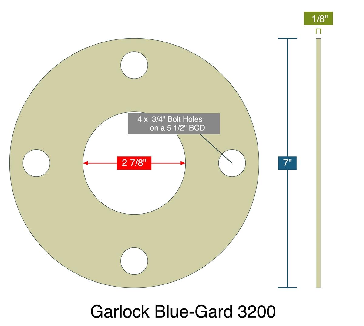 "LOT OF 20 GARLOCK BLUE-GARD GASKETS 11/"" OD 8-5//8/"" ID 1-1//8/"" FLANGE C4"