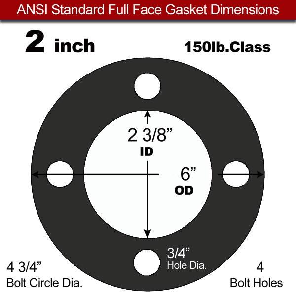 60 Duro EPDM Full Face Gasket - 150 Lb. - 1/16\