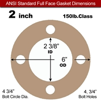 "Equalseal EQ 500 Full Face Gasket - 1/16"" Thick - 150 Lb - 2"""