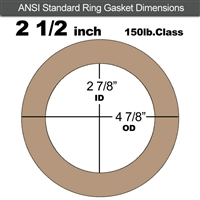 "Equalseal EQ 500 Ring Gasket - 1/8"" Thick - 150 Lb - 2-1/2"""