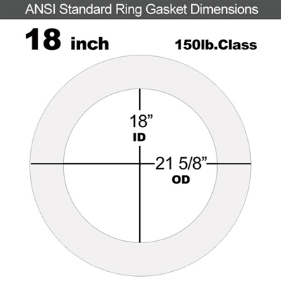 "Equalseal EQ 510 Ring Gasket - 1/8"" Thick - 150 Lb - 18"""