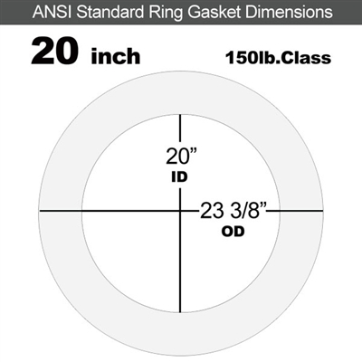 "Equalseal EQ 510 Ring Gasket - 1/8"" Thick - 150 Lb - 20"""
