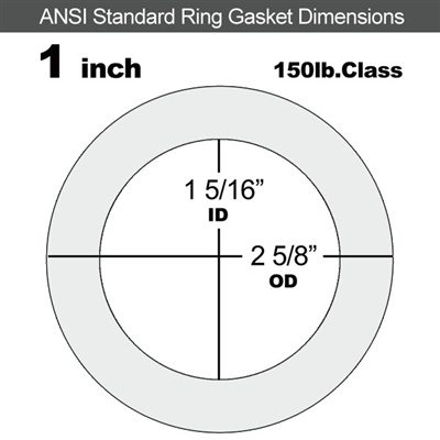 "Equalseal EQ 535exp Ring Gasket - 150 Lb. - 1/16"" Thick - 1"" Pipe"