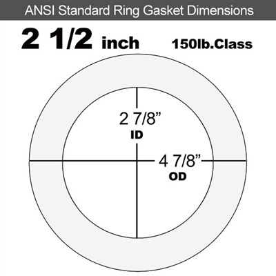 "Equalseal EQ 535exp Ring Gasket - 150 Lb. - 1/8"" Thick - 2-1/2"" Pipe"