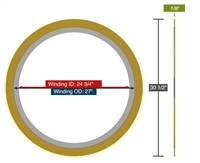 "Equalseal EQSW - 300 Lb. Class - 24"" - Pack of 5 Spiral Wound Gaskets"