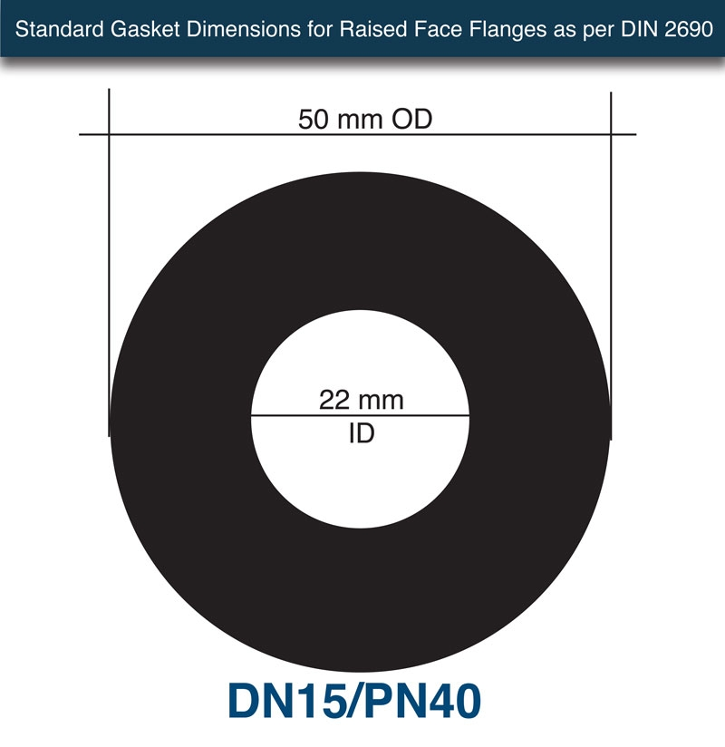 Donit GLD® Ring Gasket - 1 6mm x DN15/PN40