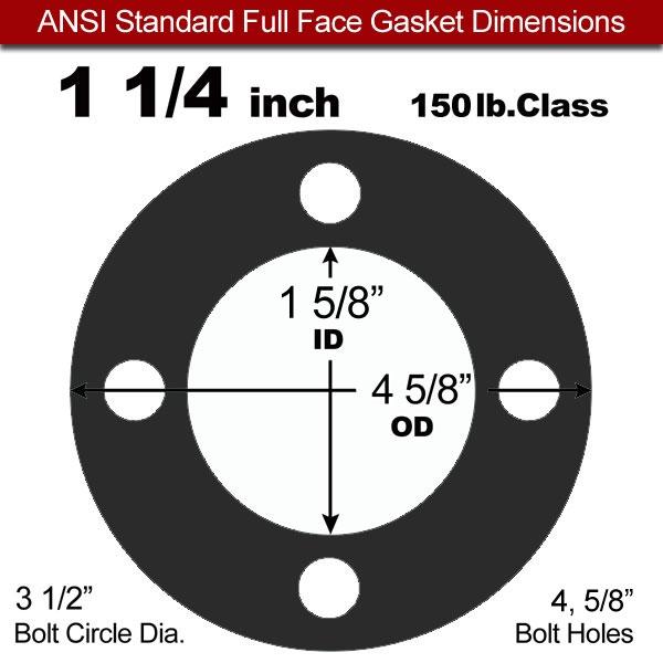60 Duro Neoprene Full Face Gasket - 150 Lb. - 1/8\