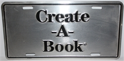 Create-A-Book License Plate