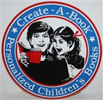 "4"" Diameter, Round Create-A-Book Window Sticker"