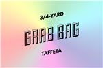 grab bag: eight 3/4-yard pieces of taffeta
