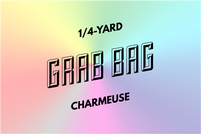 grab bag: eight 1/4-yard pieces of charmeuse