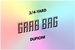 grab bag: eight 3/4-yard pieces of dupioni