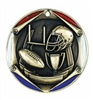 "2"" Tri-Color Medal Football"