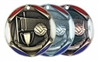 "2"" Tri-Color Medal Volleyball"