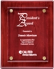 "9"" x 12"" Rosewood Piano Finish Floating Acrylic Plaque"