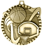 Basketball Medal Gold 2 inches