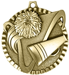 Cheerleading Medal Gold 2 inches