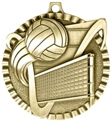 Volleyball Medal Gold 2 inches
