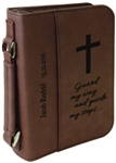 "6 3/4"" x 9 1/4"" Dark Brown Leatherette Bible Cover"